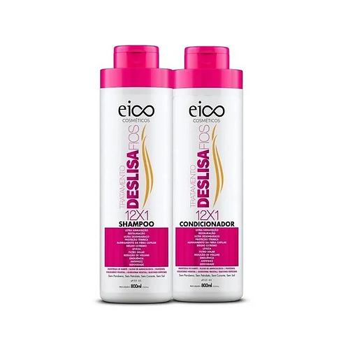 Kit Eico Tratamento Deslisa Fios Shampoo+Condicionador 800ml