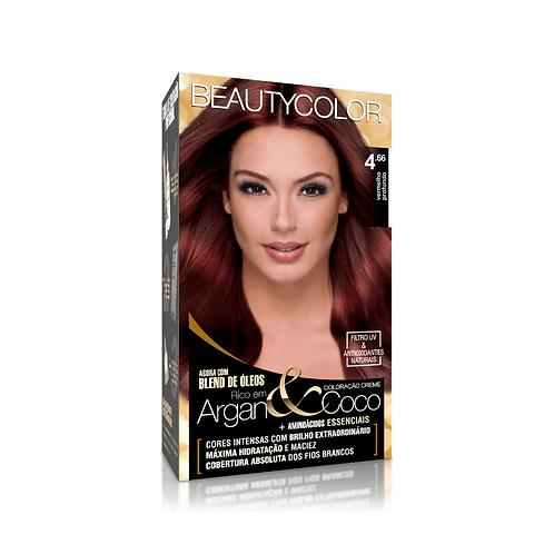 Coloração BeautyColor 4.66 Vermelho Profundo 50g