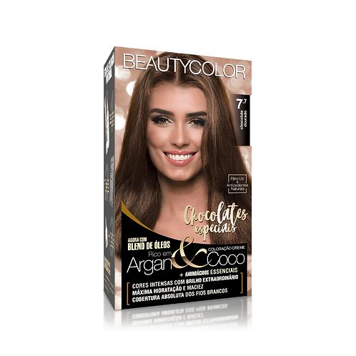 Coloração BeautyColor 7.7 Chocolate Dourado 50g