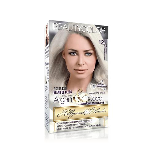 Coloração BeautyColor 12.11 Louro Ultra Claríssimo Especial Gelo 50g