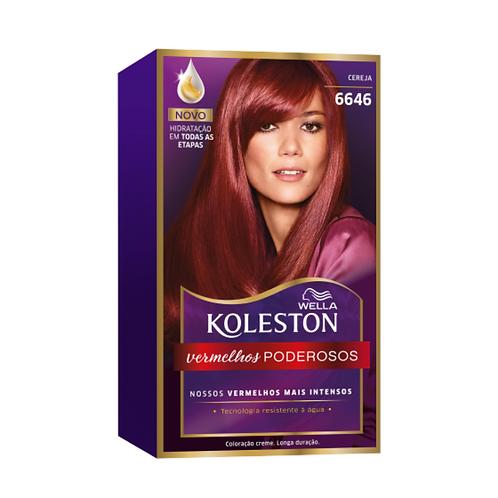 Coloração Creme Wella Koleston Cereja 6646