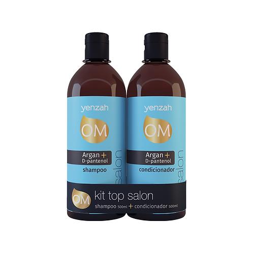 Kit Yenza OM Top Salon Shampoo 500mL + Condicionador 500mL