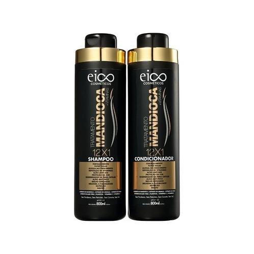Kit Eico Tratamento Mandioca Shampoo+Condicionador 800ml