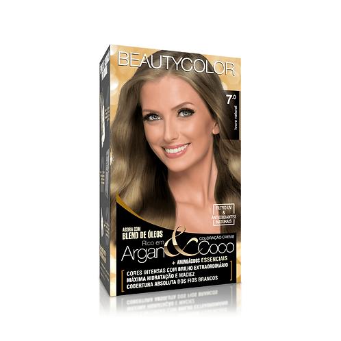 Coloração BeautyColor 7.0 Louro Natural 50g