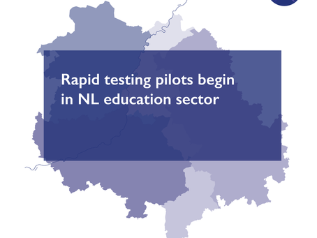 Rapid testing pilots begin in NL education sector