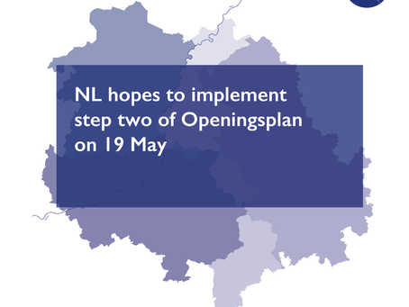 NL hopes to implement step two of Openingsplan on 19 May