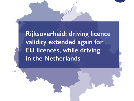 Rijksoverheid: driving licence validity extended again for EU licences – while driving in NL