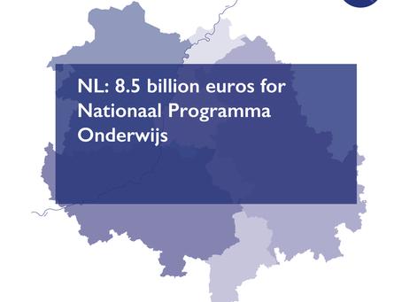 NL: 8.5 billion euros for Nationaal Programma Onderwijs