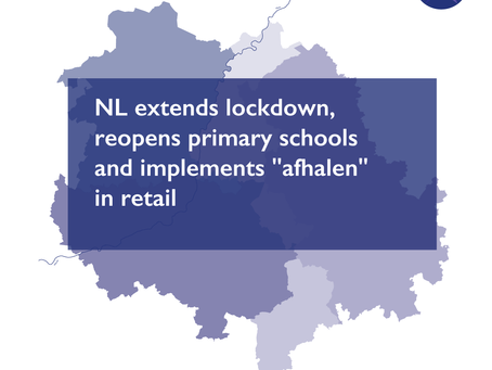 """NL extends lockdown, reopens primary schools and implements """"afhalen"""" in retail"""