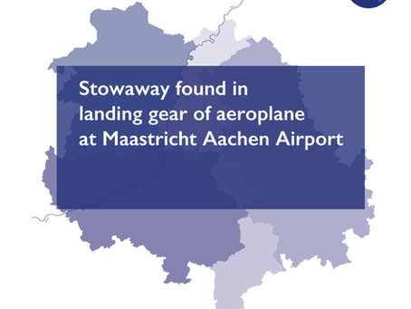 Stowaway found in landing gear of aeroplane at Maastricht Aachen Airport
