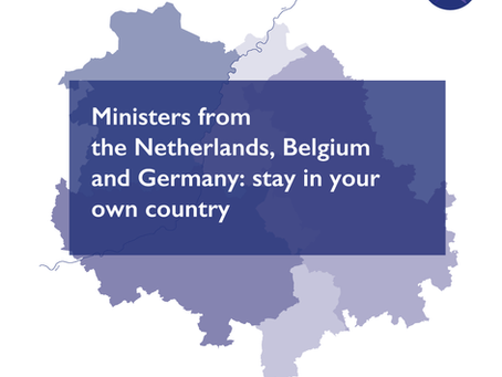 Ministers from the Netherlands, Belgium and Germany: stay in your own country