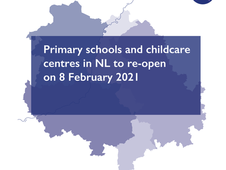 Primary schools and childcare centres in NL to re-open on 8 February