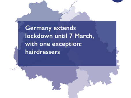 Germany extends lockdown until 7 March, with one exception: hairdressers