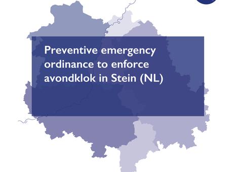 Preventive emergency ordinance to enforce avondklok in Stein (NL)