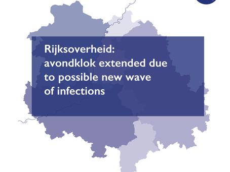 Rijksoverheid: avondklok extended due to possible new wave of infections
