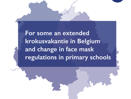 For some an extended krokusvakantie in Belgium – change in face mask regulations in primary schools