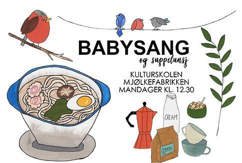 Babysang og suppelunsj