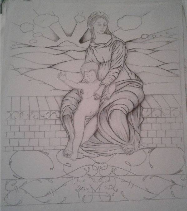 mother's love sketch