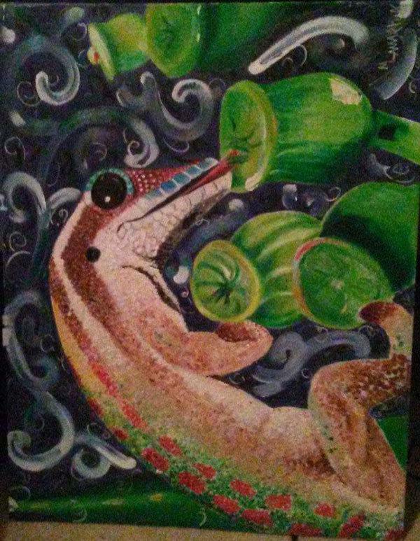 lizard, lizard painting