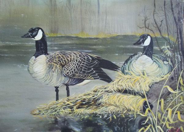 geese, goose, prison art, poetic impressions