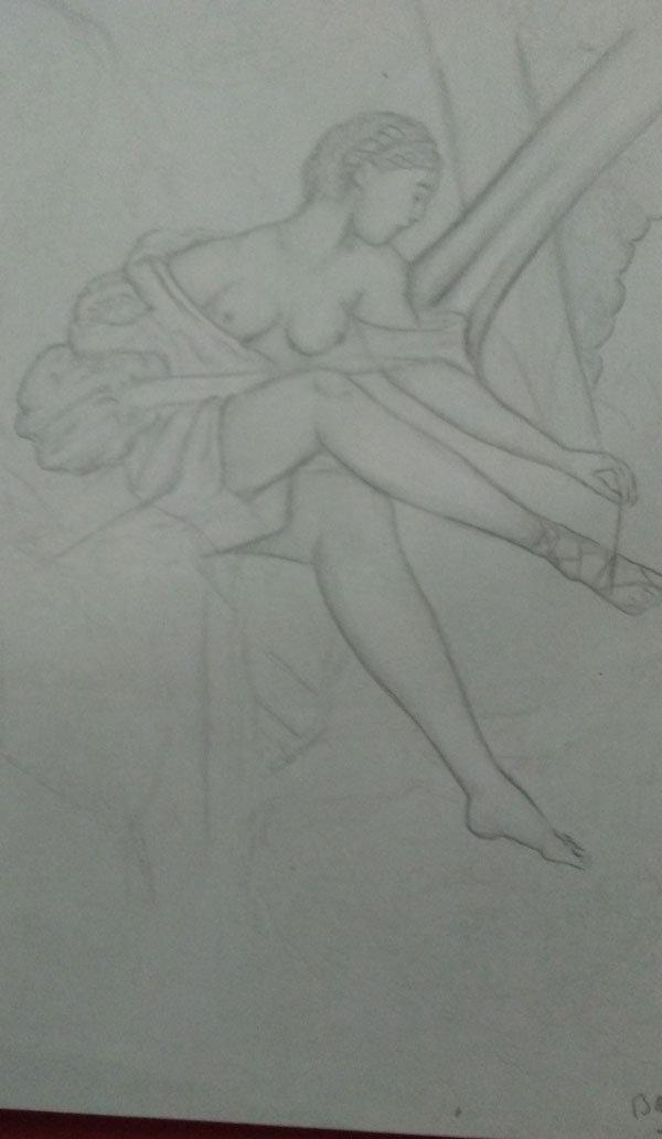 drug addiction, sketch