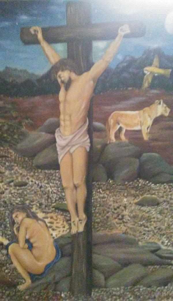 jesus, oil painting, prison art