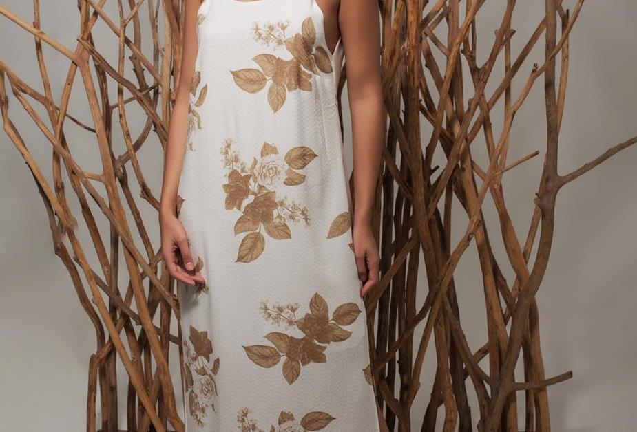 Vestido longo alcinha