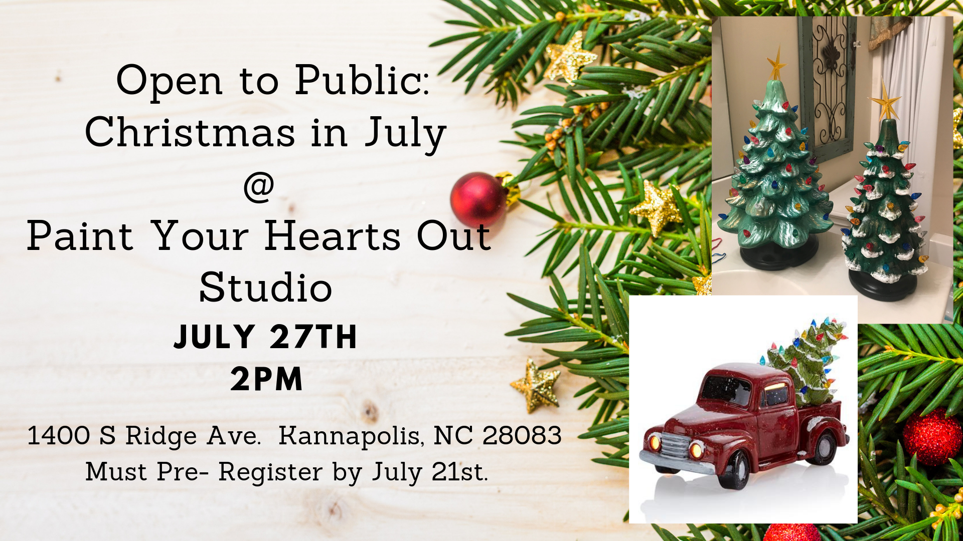 Christmas In July Party.July 27th Christmas In July Paint Party