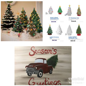 November 7th Vintage Style Ceramic Christmas Tree And Christmas