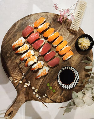 Sushis saumon / thon / crevettes