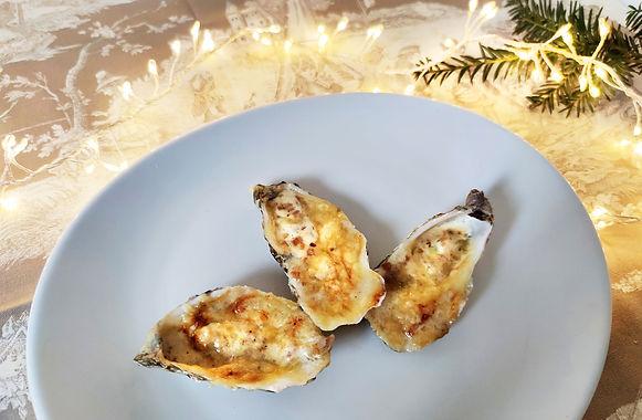 Huîtres chaudes à la tomme de Savoie
