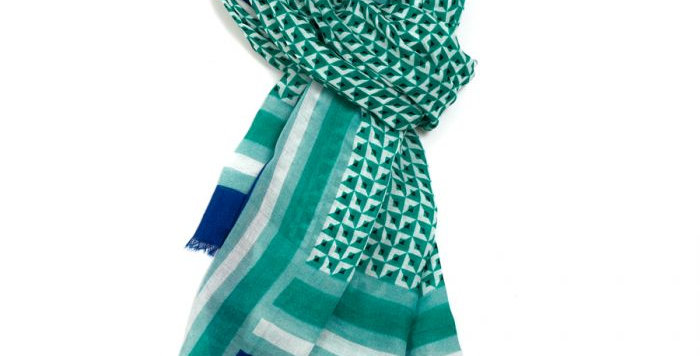 Miss Sparrow Scarf Green Design