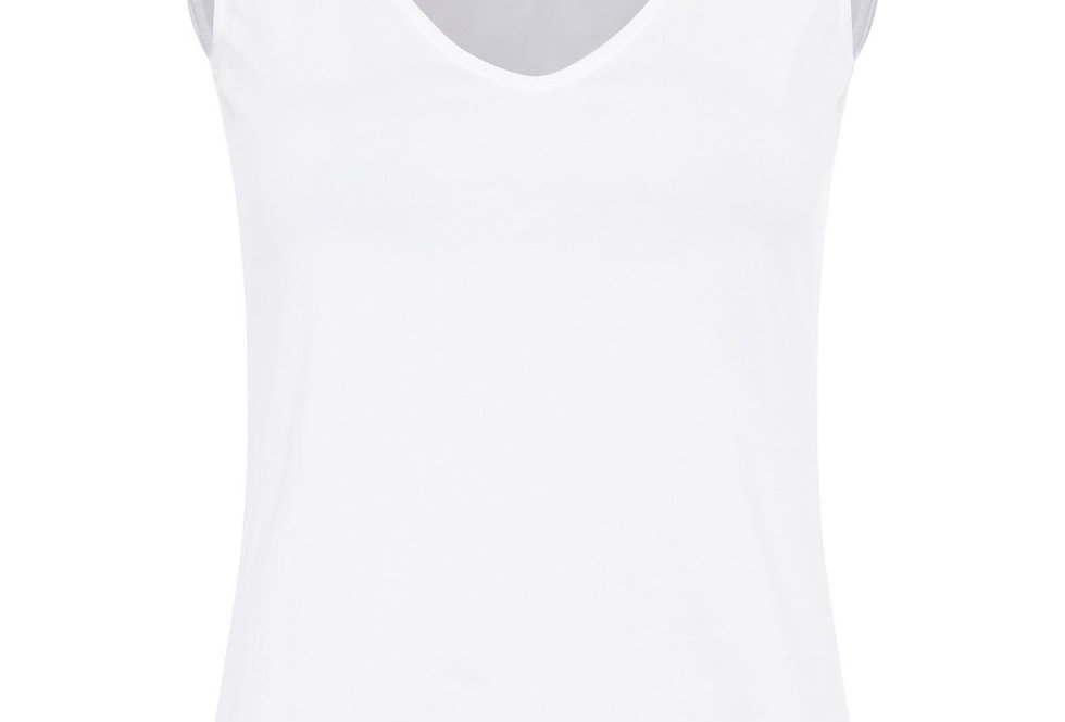 Great Plains Organic Cotton Fitted White Top