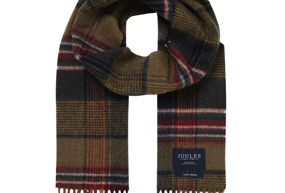 Joules Tytherton Green Check Scarf