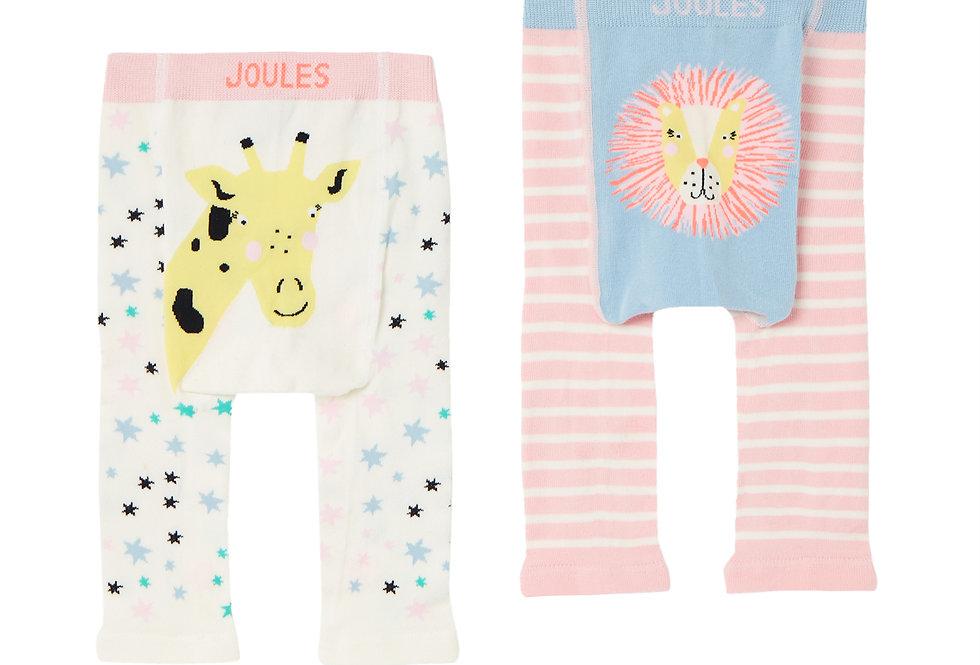 Joules Lively Leggings Giraffe and Lion