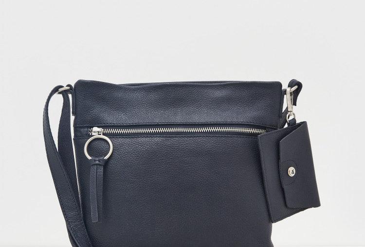 White Stuff Lottie Leather Crossbody bag Dark Navy