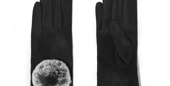 Miss Sparrow Black  Ivy Gloves