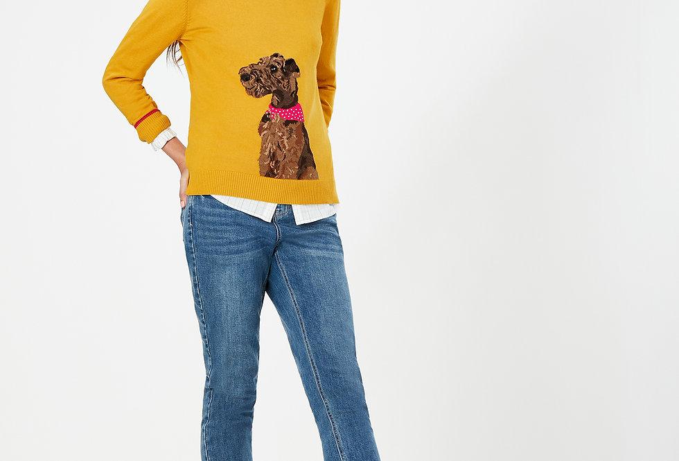 Joules Miranda Gold Dog Jumper