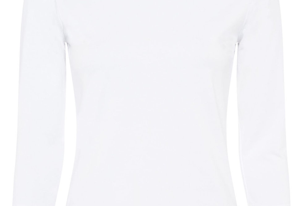 Great Plains Organic Cotton White 3/4 Sleeved Top