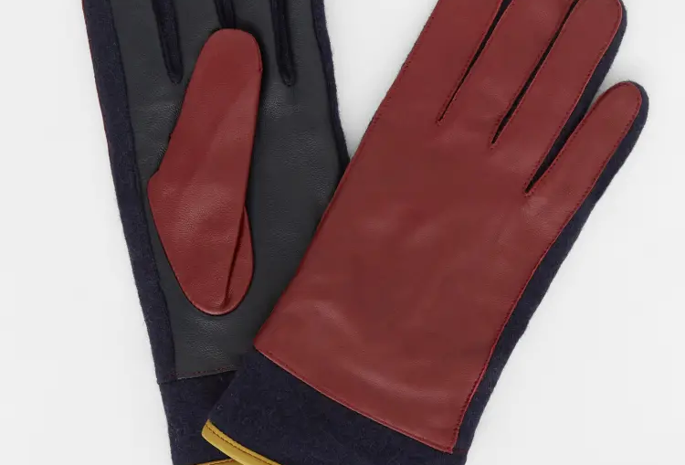 White Stuff Colourblock Leather Gloves