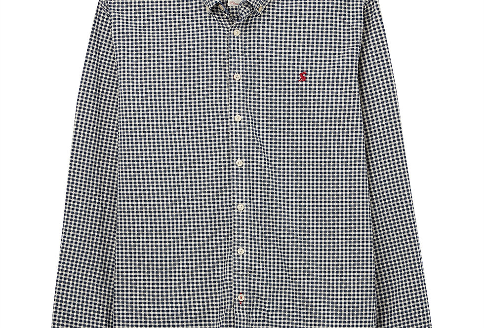 Joules Hammond Classic Fit Shirt Navy Check