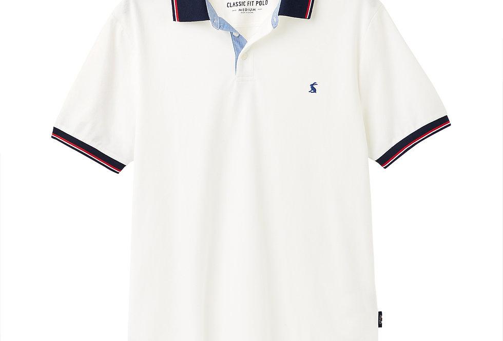 Joules Hanfield Posh Polo Shirt White