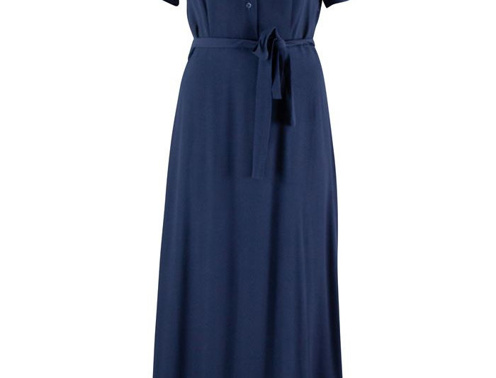 Zilch Long Navy Dress