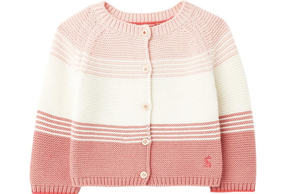 Joules Haywood baby Cardigan Pink Stripe