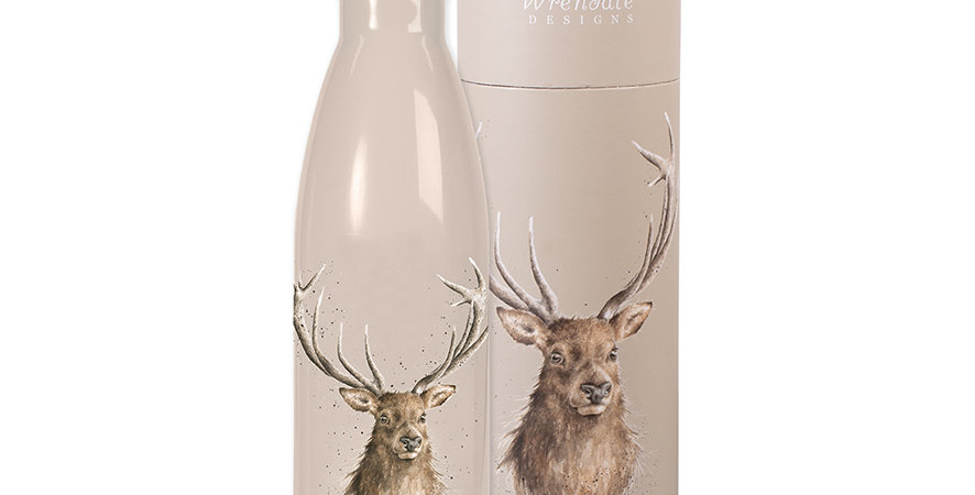 Wrendale Water Bottle Stag Design