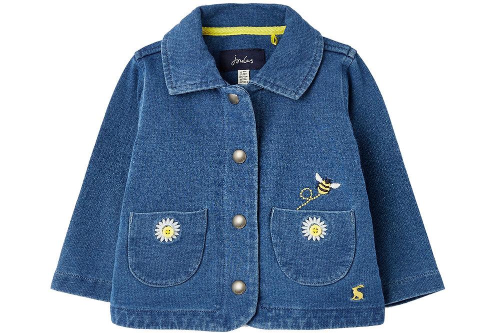 Joules Lainie Jersey Denim Bee Jacket