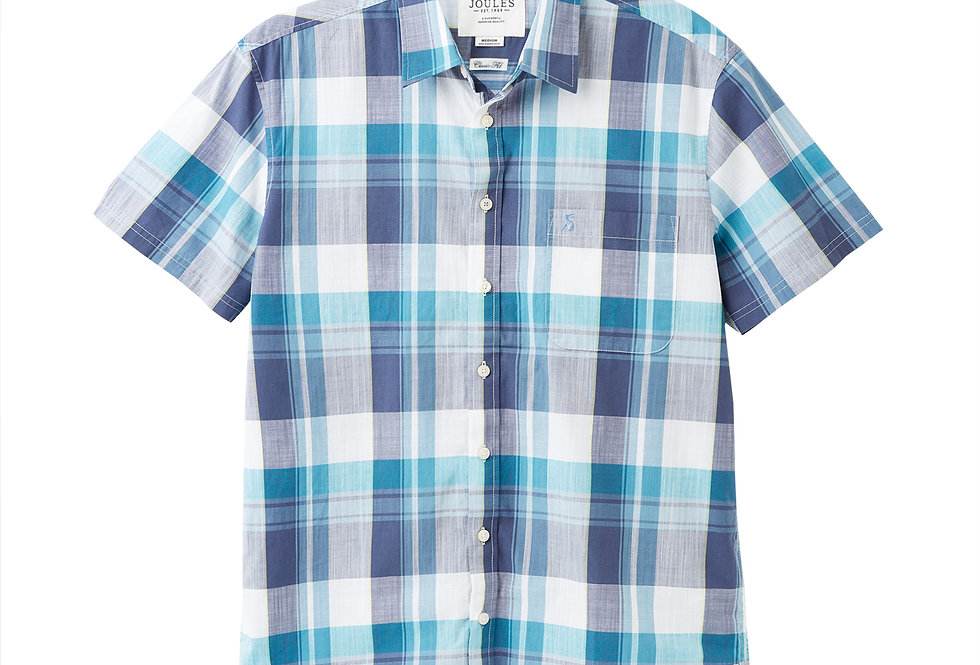 Joules Wilson Classic Fit Shirt White/Green Check