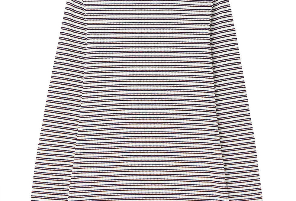 Joules Grace Long Sleeve Ribbed Top Striped