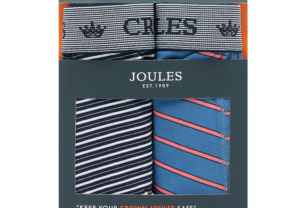 Joules Mens Pack of 2 Boxers Stripe Duo