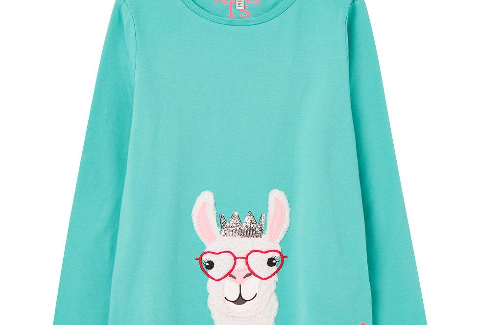 Joules Ava Llama Top